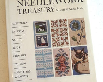 Vintage Needlework Book, McCallsTreasury Book, Learn and Make Book, Hardcover, Vintage 1964, Sewing Instructions, Pictures,Patterns,Supplies
