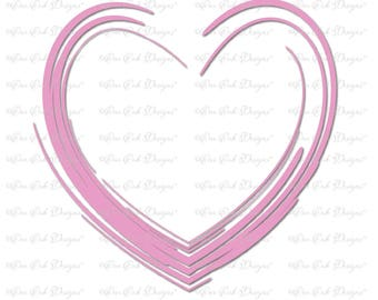 Heart SVG File  svg / dxf / png / pdf / jpg for Cameo, Cricut & other cutting machines