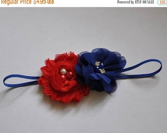 sale Patriotic Headband American USA Headband Red White and Blue Headband Fourth of July Headband America Headband USA Headband Patriotic Bo