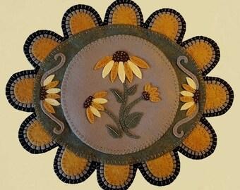 Through The Garden Gate~Sunflower/Coneflower Table Mat MAILED PAPER PATTERN