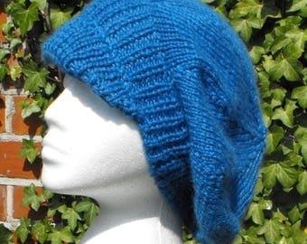 40% OFF SALE Digital pdf file download - Peak Slouchy Tam Cap Hat pdf download knitting pattern