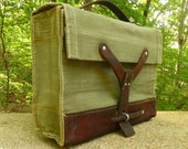 Vintage Swiss Military Bag,  Swiss amunition bag - iPad perfect