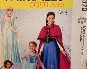 McCall's MP370 Costumes Gown, over dress, cape - new uncut size Sml-Med-Lrg-Xlg, 2014