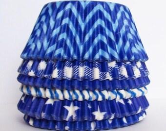 60 Blue  Cupcake Liner Assortment