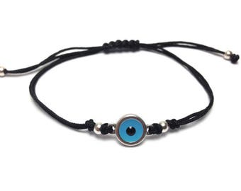 Evil eye bracelet  - blue eye  - protection - Greek jewelry - Greek mati