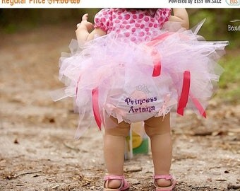 ON SALE Personalized Birthday Princess Monogram Bloomers Diaper Cover