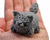 Gray Wolf Yami Amigurumi Plush Toy Stuffed Animal Crochet