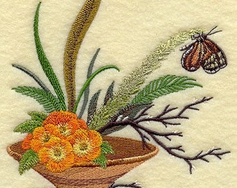 IKEBANA BUTTERFLY on Ladies' Tee or Sweat by Rosemary