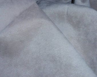 """Deep Tan Beige Suede Leather Fabric  46"""" Wide Sold by the yard"""