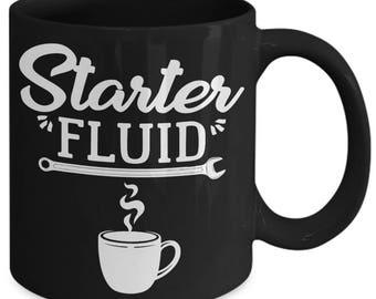 Starter Fluid Mechanic Caffeine Coffee Mug
