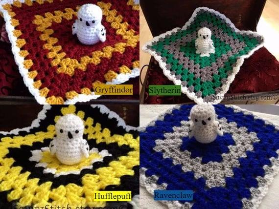 Blanket Lovey Baby Newborn Harry Potter Inspired Crochet