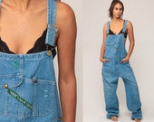Bib Overalls Men 80s Denim Pants Baggy Dungarees KEY IMPERIAL Grunge Long Jean 90s Boyfriend Suspender Hipster Carpenter Extra Large xl