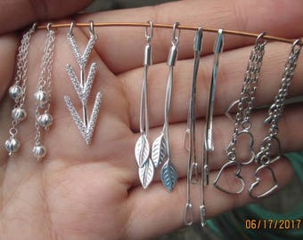 Sterling Silver Earring Links(one pair)