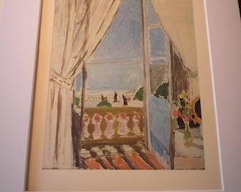 Vintage Print - Matisse - The Window in Nice 1919 - Fine Art  Book Plate - art ephemera gift for art lovers modern art
