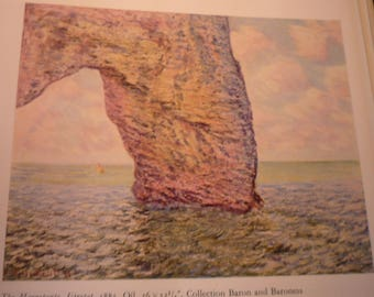 Monet Print - The Manneporte, Etretat - French impressionist - seascape ocean view - gift for French lovers - framable art print JBling