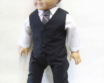 "Black Dress Suit for Logan and Other 18"" Boy Dolls"