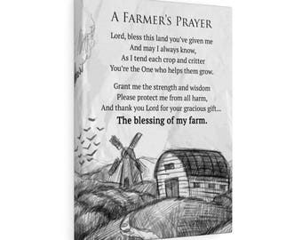 A Farmers Prayer Canvas Gallery Wraps