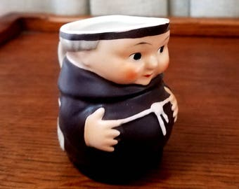 Vintage Friar Tuck Goebel Hummel Monk Creamer Miniature Stylized Bee Mark 1960s