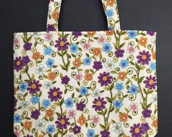Desert Flowers Tote Bag/Book Bag/Project Bag