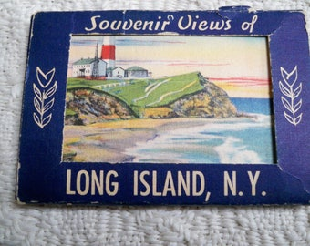 Vintage Collectible Souvenir Paper Ephemera Small Old Photo Travel Booklet Long Island NY