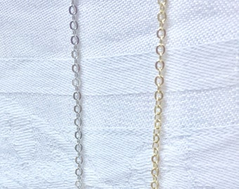Small Flattened Cable Chain Necklace