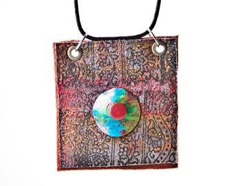 Colorful Necklace, Unique Necklace, Boho Necklace, Gypsy Necklace, Long Necklace