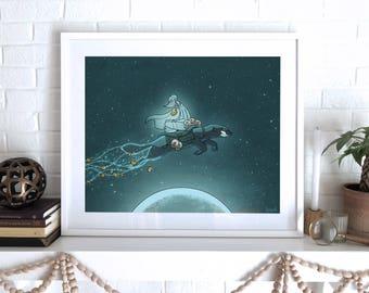 Bitcoin Moon (Framed)