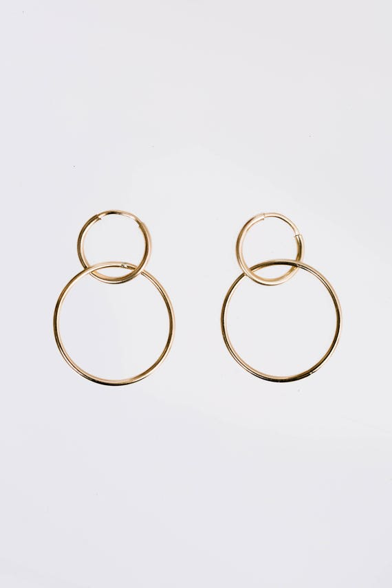 Gold Fill Rodeo Hoops