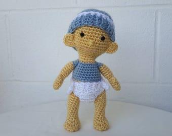 Baby Doll Crochet Doll Toy Doll Amigurumi Doll Soft Baby Doll Plush Doll Boy doll Crocheted Doll Knitted doll Birthday doll Fabric doll toy