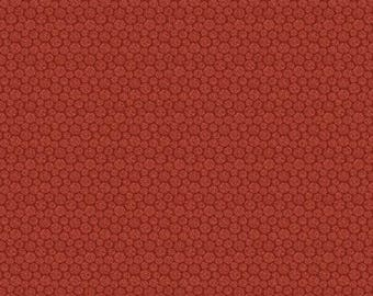 NEW Crafty Cats Craft 100% Cotton Quilt Fabric 1-2/3 Yards Cut of Red Thread Dot Tonal