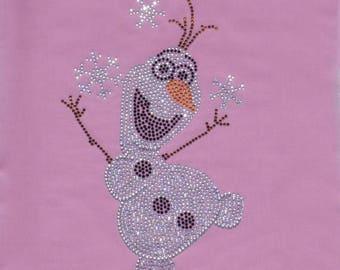SALE Frozen OLAF bling iron on rhinestone TRANSFER for Disney t-shirt