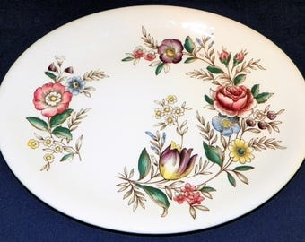 "Johnson Brothers England Windsor Ware 12 1/4"" Platter in the Hampshire Pattern"