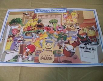 laminated Disney placemat kitchen kabaret kitchen krackpots rare