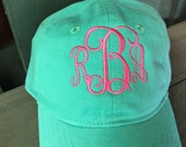 Preppy Monogram Youth Baseball Cap Personalized Kids Monogram Hat Youth Ball Caps