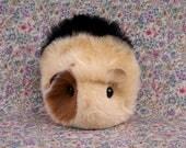 Blonde and Black Calico Toy Guinea Pig Handmade Plushie