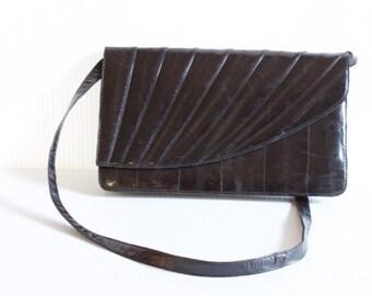Vintage Black Eel skin Purse Handbag