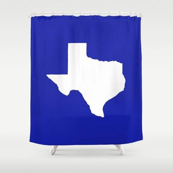 Texas Shower Curtain - Azure blue Shower Curtain - Modern Shower Curtain - Blue Shower Curtain - Texan Pride Shower Curtain Texas Bath Decor