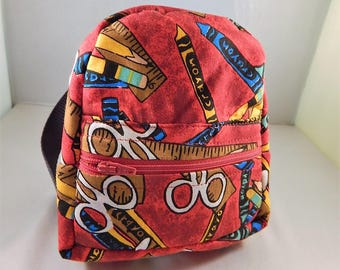 Mini backpack Child School Pretend Play Red School Supplies Back pack Ready to ship Accessories Pencil Bag Set