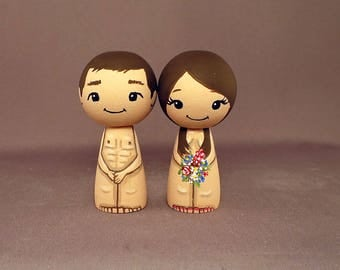 Nudist Wedding Cake Toppers Bare Naked Cake Toppers
