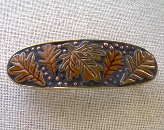 Mosaic Leaf  Barrette