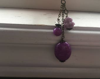 Buddha zipper pull -purple buddha purse dangle -purre buddha purse charm zipper pull