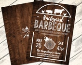Backyard BBQ Party Invitation - Barbecue Invite, Barbeque Party, BBQ Invite | Editable Text - Instant Download PDF Printable