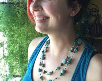 Southwest style Turquoise necklace, Christmas gift, birthday gift a gift for yourself!
