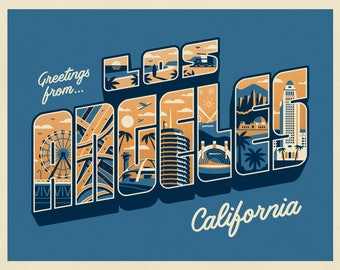 Greetings From Los Angeles Art Print