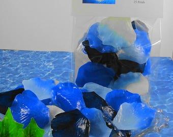 Soap  - Ocean Breeze Petal Soaps -Individual Rose Petal Soaps - Glycerin Soaps - Wedding Favor - Guest Soap