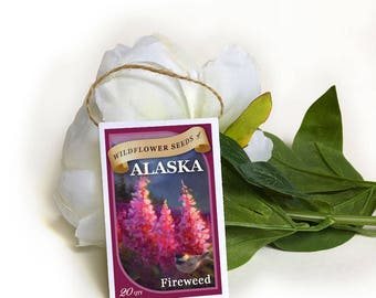 fireweed seeds-wedding seed packets-flower seeds-seed packets-wild seed packets-seed favors-wedding favors-alaska wildflowers-wildflower