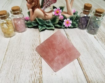 Rose Quartz Gemstone Pyramid - Stone of Love