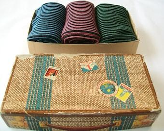 Vintage Show Mittens in Box, 1940s, 3 Pairs, original box