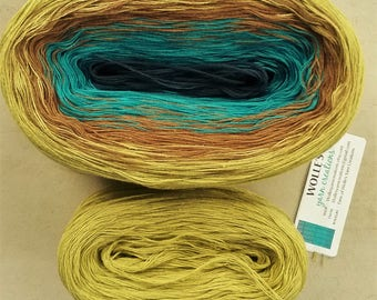 Kit ~ VISION II --  Color Changing Cotton yarn -  Fingering Weight -- 960 yards