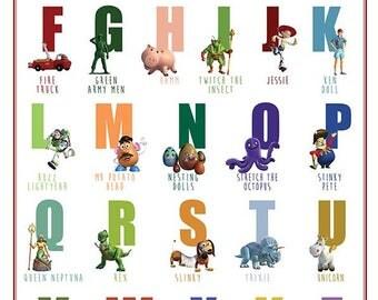 Disney Alphabet Etsy